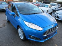 USED 2014 14 FORD FIESTA 1.5 TITANIUM TDCI 5d 74 BHP + VERY RARE FULL HEATED LEATHER !!