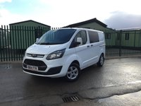 USED 2014 64 FORD TRANSIT CUSTOM 2.2 290 LR P/V 1d 99 BHP 5 SEATER CAMPERVAN BESPOKE CONVERSION NO VAT NO FINANCE REPAYMENTS FOR 2 MONTHS STC. NO VAT. MOTORHOME CONVERSION. COACHBUILTBESPOKE. 5 SEATER. FRIDGE. SINK. TELEVISION. HOB X 2. N/S LOADING DOOR. PRIVACY. AIR CON. 16 INCH ALLOYS. R/CD PLAYER. MOT 10/18. SERVICE HISTORY. FCA FINANCE APPROVED DEALER. TEL 01937 849492