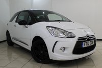 USED 2012 12 CITROEN DS3 1.6 DSTYLE PLUS 3DR 120 BHP SERVICE HISTORY + PARKING SENSOR + CRUISE CONTROL + MULTI FUNCTION WHEEL + AIR CONDITIONING + AUXILIARY PORT + 17 INCH ALLOY WHEELS