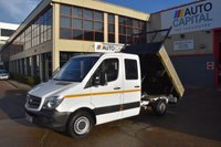 USED 2013 63 MERCEDES-BENZ SPRINTER 2.1 313 CDI D/C MWB 4d 129 BHP 6 SEATER DIESEL MANUAL DIESEL TIPPER ONE OWNER FULL S/H SPARE KEY