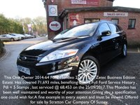 2014 FORD MONDEO 2.0 TDCi ECO ZETEC BUSINESS ESTATE 5DR £8000.00