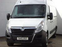 2015 VAUXHALL MOVANO 2.3 F3300 L2H2 P/V CDTI 1d 109 BHP £12999.00