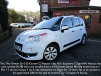 USED 2010 60 CITROEN C3 PICASSO 1.6 PICASSO EXCLUSIVE HDI 1d 110 BHP