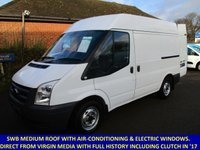 2011 FORD TRANSIT 280 SWB MEDIUM ROOF WITH AIR-CON FROM VIRGIN MEDIA £5895.00