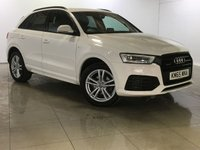 USED 2015 65 AUDI Q3 2.0 TDI QUATTRO S LINE 5d AUTO 148 BHP One Owner From New/Stunning