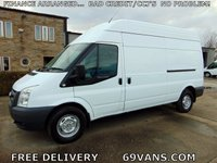2011 FORD TRANSIT LWB, RWD, HIGH ROOF, 6 SPEED GEARBOX, ELECTRIC WINDOWS £4995.00