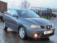 USED 2007 07 SEAT IBIZA 1.2 REFERENCE SPORT 12V 3d 69 BHP FULL DEALER SERVICE HISTORY, 2 KEYS, EXCELLENT CONDITION.