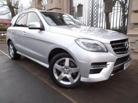 USED 2014 63 MERCEDES-BENZ M CLASS 2.1 ML250 BLUETEC SPORT 5d AUTO 204 BHP *** FINANCE & PART EXCHANGE WELCOME * 1OWNER SAT/NAV BLUETOOTH PHONE HALF LEATHER AIR/CON CRUISE CONTROL, PARKING SENSORS FRONT & REAR PRIVACY GLASS