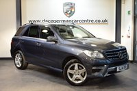 USED 2014 14 MERCEDES-BENZ M CLASS 3.0 ML350 BLUETEC AMG SPORT 5DR AUTO 258 BHP + HALF BLACK LEATHER INTERIOR  + FULL SERVICE HISTORY + 1 OWNER FROM NEW + COMAND SATELLITE NAVIGATION + BLUETOOTH + HEATED SPORT SEATS + DAB RADIO + CRUISE CONTROL + ACTIVE PARK ASSIST + 19 INCH ALLOY WHEELS +