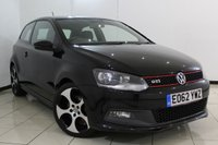 USED 2012 62 VOLKSWAGEN POLO 1.4 GTI DSG 3DR AUTOMATIC 177 BHP SERVICE HISTORY + AIR CONDITIONING + AUXILIARY PORT + RADIO/CD + ELECTRIC WINDOWS + 17 INCH ALLOY WHEELS