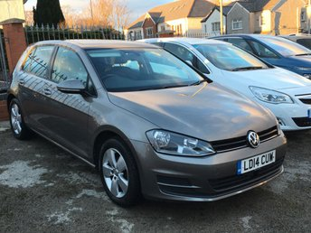 2014 VOLKSWAGEN GOLF 1.6 SE TDI BLUEMOTION TECH Auto 5dr Pan Rf NAV  £9495.00