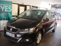 """USED 2011 60 SEAT ALHAMBRA 2.0 CR TDI ECOMOTIVE SE 5d 140 BHP This Alhambra 7 Seater is finished in deep black pearl Metallic and cloth seats. It is fitted with power sliding rear doors & tailgate,  Seat Sat nav/bluetooth, reverse camera, isofix seats with built in booster seats!,  power steering, remote locking, electric windows and mirrors with power fold, climate control, cruise control, front rear fogs, rear parking sensors, 18"""" alloy wheels CD Stereo with Media connection and more. It has had two owners, SEAT main dealer and one private"""