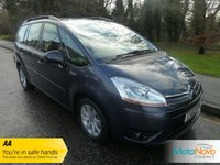USED 2010 60 CITROEN C4 GRAND PICASSO 2.0 VTR PLUS HDI EGS 5d AUTO 134 BHP Fantastic Value Grand Picasso Automatic with One Previous Lady Owner, Seven Seats, Climate Control, Cruise Control, Alloy Wheels and Citroen Service History.