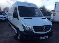 USED 2014 64 MERCEDES-BENZ SPRINTER LWB 2.1 313 CDI 129 BHP 1 OWNER FSH NEW MOT FREE 6 MONTH AA WARRANTY, RECOVERY AND ASSIST NEW MOT 6 SPEED MULTI FUNCTIONAL STEERING WHEEL BLUETOOTH ELECTRIC WINDOWS