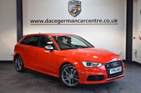 USED 2014 64 AUDI A3 2.0 S3 SPORTBACK QUATTRO 5DR 296 BHP +  FULL BLACK LEATHER INTERIOR + 1 OWNER FROM NEW + AUDI SERVICE HISTORY + BLUETOOTH + XENON LIGHTS + HEATED SPORT SEATS + DAB RADIO + BAND AND OLUFSEN SPEAKERS + CRUISE CONTROL + PARKING SENSORS + 18 INCH ALLOY WHEELS +