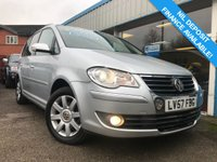 USED 2007 57 VOLKSWAGEN TOURAN 2.0 SPORT TDI DSG 5d AUTO 138 BHP TIMING BELT CHANGED @70K SERVICE HISTORY, 6 STAMPS!