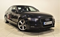 USED 2012 12 AUDI A4 2.0 TDI S LINE 4d 174 BHP + 1 OWNER +  SERVICE HISTORY + AIR CON + AUX + BLUETOOTH