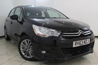 USED 2013 63 CITROEN C4 1.6 E-HDI AIRDREAM VTR PLUS 5DR 115 BHP FULL SERVICE HISTORY + PARKING SENSOR + BLUETOOTH + MULTI FUNCTION WHEEL + 16 INCH ALLOY WHEELS