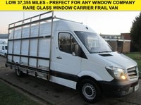 USED 2016 16 MERCEDES-BENZ SPRINTER 2.1 313CDI LWB NEW SHAPE GLASS CARRIER WINDOW FRAIL VAN LOW 37,000 MILES. LOW RATE FINANCE. PX WELCOME