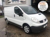 2011 RENAULT TRAFIC  2700 CDTI SWB LOW ROOF 6 SPEED 1 OWNER SAT NAV £5995.00