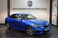 USED 2015 15 BMW 2 SERIES 3.0 M235I 2DR AUTO 322 BHP + FULL CREAM LEATHER INTERIOR + FULL BMW SERVICE HISTORY + PRO SATELLITE NAVIGATION + BLUETOOTH + XENON LIGHTS + SPORT SEATS WITH MEMORY + DAB RADIO + HARMAN/KARDON SPEAKERS + CRUISE CONTROL + LIGHT PACKAGE + PARKING SENSORS + 17 INCH ALLOY WHEELS +