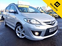 USED 2008 08 MAZDA MAZDA 5 2.0 SPORT D 5d 143 BHP! p/x welcome! XENON! FULL LEATHER! ELECTRIC SLIDING DOORS! 2F/KEEPERS! BLUETOOTH! AUX! MAZDA SRVC HISTORY! CRUISE & CLIMATE CONTROL! 6 CD CHANGER! 7 SEATER! NEW MOT & SRVC! XENON+FULL LEATHER+ELECTRIC SLIDING DOORS+AUX+B/TOOTH+MAZDA SRVC HIST+CRUISE CONTRL+7 STR+6 CD CHANGER!