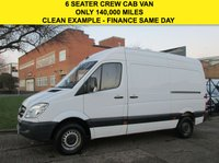 USED 2011 11 MERCEDES-BENZ SPRINTER 2.1 313CDI MWB HIGH ROOF CREW VAN 129 BHP. 6 SEATS. PX CRUISE. BLUETOOTH. 6 SEATS. LOW RATE FINANCE. WARRANTY