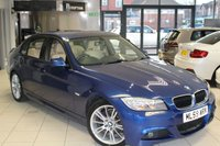USED 2009 59 BMW 3 SERIES 2.0 320I M SPORT BUSINESS EDITION 4d 168 BHP FULL BEIGE LEATHER SEATS + SERVICE HISTORY + SAT NAV + BLUETOOTH + CRUISE CONTROL + REAR PARKING SENSORS + SPORT FRONT SEATS + 17 INCH ALLOYS + AIR CONDITIONING