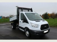 USED 2015 15 FORD TRANSIT 350 MWB S/Cab Tipper 125PS