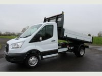 USED 2015 15 FORD TRANSIT 350 MWB S/Cab Tipper 100PS