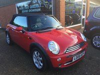 USED 2008 08 MINI CONVERTIBLE 1.6 COOPER 2d 114 BHP IN RED WITH SAT NAV AND ONLY 54000 MILES. APPROVED CARS ARE PLEASED TO OFFER THIS MINI CONVERTIBLE 1.6 COOPER 2d 114 BHP IN RED WITH SAT NAV AND A FULL LEATHER INTERIOR AND ONLY 54000 MILES FROM NEW WITH A DOCUMENTED FULL SERVICE HISTORY A STUNNING LOW MILEAGE CONVERTIBLE MINI.