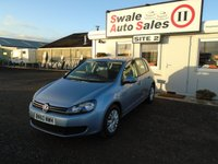 USED 2010 60 VOLKSWAGEN GOLF 1.6 S TDI 5d 103 BHP £31 PER WEEK NO DEPOSIT - SEE FINANCE LINK BELOW