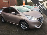USED 2014 63 PEUGEOT 208 1.2 ALLURE 5d 82 BHP LOW MILEAGE, £20 A YEAR ROAD TAX