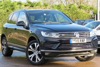 USED 2015 15 VOLKSWAGEN TOUAREG 3.0 V6 R-LINE TDI BLUEMOTION TECHNOLOGY 5d AUTO 259 BHP SAT NAV, PANORAMIC ROOF, FULL LEATHER, FINANCE AVAILABLE