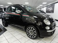 USED 2012 12 FIAT 500 1.2 BY GUCCI 69 BHP BLACK & CREAM LEATHER FSH B/T PAN ROOF