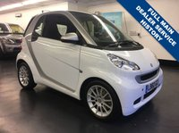 USED 2011 60 SMART FORTWO 1.0 PASSION MHD 2d AUTO 71 BHP 1 PREVIOUS OWNER, FULL MERCEDES SERVICE HISTORY,  SAT NAV AND FULL LEATHER