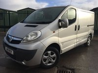 USED 2011 11 VAUXHALL VIVARO 2.0 2700 CDTI SPORTIVE 1d 113 BHP AIR CON ALLOYS NO VAT NO FINANCE REPAYMENTS FOR 2 MONTHS STC. NO VAT. STUNNING SILVER MET WITH GREY CLOTH TRIM. AIR CON. 16 INCH ALLOYS. COLOUR CODED TRIMS. PARKING SENSORS. BULKHEAD. CARGO LINING. N/S LOADING DOOR. 3 SEATER. R/CD PLAYER. 6 SPEED MANUAL. PAS. EW. MFSW. MOT 10/18. TEL 01937 849492