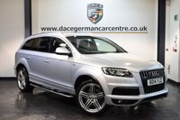 USED 2014 14 AUDI Q7 3.0 TDI QUATTRO S LINE PLUS S/S 5DR AUTO 204 BHP + FULL BLACK LEATHER INTERIOR + 1 OWNER FROM NEW + AUDI SERVICE HISTORY + SATELLITE NAVIGATION + HEATED SPORT SEATS + REVERSE CAMERA + BLUETOOTH + 7 SEATER + DAB RADIO + CRUISE CONTROL + BOSE SPEAKERS + PARKING SENSORS + 21 INCH ALLOY WHEELS +