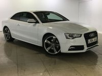 USED 2014 64 AUDI A5 2.0 TDI S LINE BLACK EDITION 2d AUTO 177 BHP One Owner From New/Huge Spec