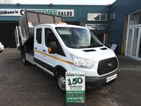 2015 FORD TRANSIT 2.2 350 L3 DCB 125 BHP TWIN WHEEL TIPPER ARBORIST TREE SURGEON arb £20495.00