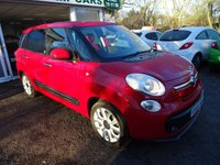 USED 2014 64 FIAT 500L MPW 1.2 MULTIJET POP STAR 5d 85 BHP 7 SEATER 7 Seater, Full Service History + Just Serviced by ourselves, One Owner from new, MOT until September 2018 (no advisories), Excellent on fuel economy! Only £20 Road Tax! Diesel.