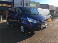 USED 2014 64 FORD TRANSIT CUSTOM 2.2 290 LIMITED LR P/V 1d 124 BHP 26,000 MILES, FULLY LOADED, 6 MONTH WARRANTY & FINANCE ARRANGED. FSH, A/C, Bluetooth, Front & rear parking sensors, heated seats, heated screen, Alloys, Parking sensors, Drivers airbag, Factory fitted bulk head, Side loading door, 1 Owner, remote Central Locking, Drivers Airbag, Radio, Steering Column Radio Control, Side Loading Door, Barn Rear Doors, 6 months warranty & finance arranged