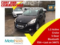 USED 2015 15 PEUGEOT 208 1.2 VTi Active 5dr 82ps 1 Owner FSH A/C Cruise control