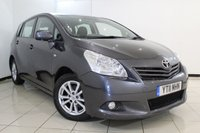 USED 2011 11 TOYOTA VERSO 2.0 TR D-4D 5DR 125 BHP FULL SERVICE HISTORY +7 SEATS + SUNROOF + MULTI FUNCTION WHEEL + CLIMATE CONTROL + 16 INCH ALLOY WHEELS