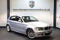 USED 2011 11 BMW 1 SERIES 2.0 118D M SPORT 5DR 141 BHP + HALF BLACK LEATHER INTERIOR + FULL SERVICE HISTORY + BLUETOOTH + SPORT SEATS + LIGHT PACKAGE + AUTO AIR CONDITIONING + PARKING SENSORS + 17 INCH ALLOY WHEELS +
