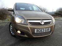 2013 VAUXHALL ZAFIRA 1.6 DESIGN 5d 113 BHP  **1 OWNER CAR , OUTSTANDING VEHICLE , YES ONLY 19K ** £7995.00