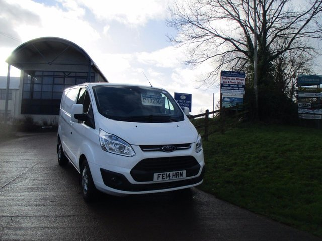 2014 14 FORD TRANSIT CUSTOM 2.2 270 LIMITED LOW ROOF SWB 125 BHP WHITE FULL HISTORY