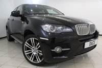 USED 2008 58 BMW X6 3.0 XDRIVE35D 4DR AUTOMATIC 282 BHP SERVICE HISTORY + HEATED LEATHER SEATS + SAT NAVIGATION PROFESSIONAL + REVERSE CAMERA + BLUETOOTH + CRUISE CONTROL + MULTI FUNCTION WHEEL + 19 INCH ALLOY WHEELS