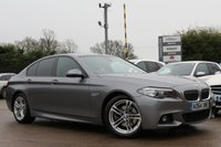 USED 2014 64 BMW 5 SERIES 2.0 520D M SPORT 4d AUTO 188 BHP SATELLITE NAVIGATION, LEATHER + HEATED SEATS