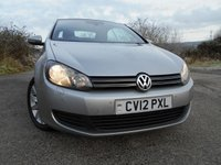 2012 VOLKSWAGEN GOLF 1.6 SE TDI BLUEMOTION TECHNOLOGY 2d 104 BHP **CONVERTIBLE , SATNAV , £30 ROAD TAX , HEATED SEATS , SE EDITION ** £7695.00